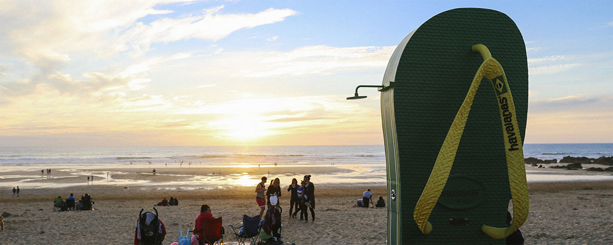 WHERE ARE THE HAVAIANAS SHOWERS ON THE EUROPEAN COASTLINE?