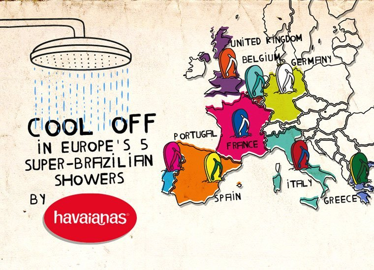COOL DOWN IN EUROPE'S 16 SUPER-BRAZILIAN SHOWERS BY HAVAIANAS