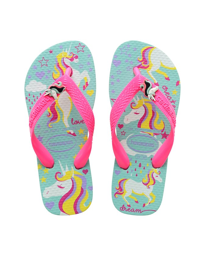 HAVAIANAS KIDS FANTASY - Ice Blue   Shocking Pink bfc1fb37db73