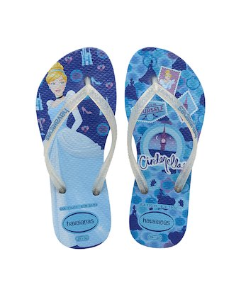 cca0578084e6 ... HAVAIANAS KIDS SLIM PRINCESS- Blue Star custom flip flops for women ...