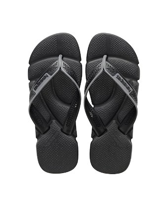 00e559d5bf15d2 ... HAVAIANAS POWER- Black   Steel Grey Flip flops for women ...