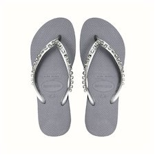 HAVAIANAS SLIM ROCK MESH- Steel Grey Flip Flops for women ee34fcbab8