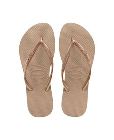 1688612f2 HAVAIANAS SLIM- Rose Gold Flip Flops for women