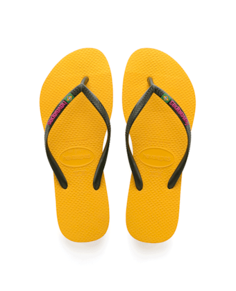 dcdee40babe30 HAVAIANAS SLIM BRASIL LOGO- Banana Yellow New arrivals for women ...